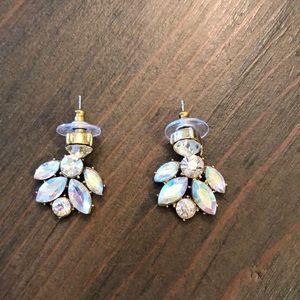 J Crew CZ dangle earrings